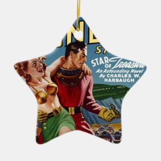 Ornamento De Cerâmica Tesouro da estrela