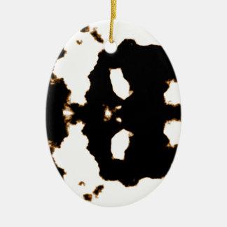 Ornamento De Cerâmica Teste de Rorschach de um cartão da mancha da tinta