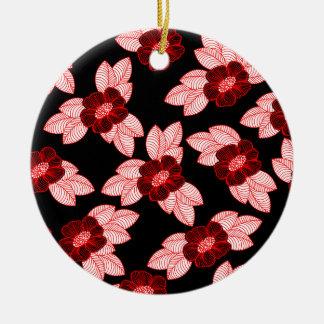 Ornamento De Cerâmica Teste padrão 3 do Natal