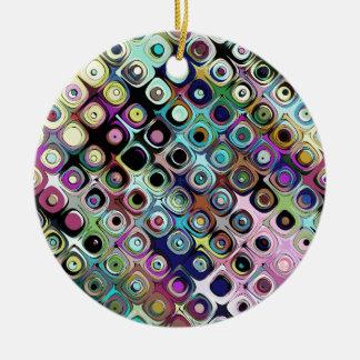 Ornamento De Cerâmica Teste padrão abstrato colorido