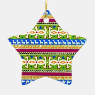 Ornamento De Cerâmica Teste padrão africano do unicórnio