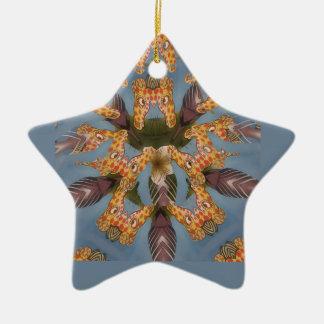 Ornamento De Cerâmica Teste padrão africano engraçado surpreendente