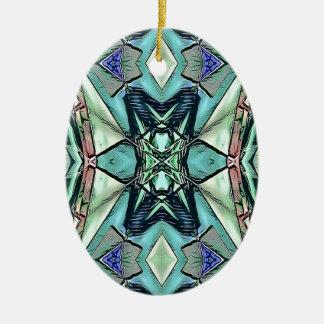 Ornamento De Cerâmica Teste padrão artístico do pêssego moderno do Lilac