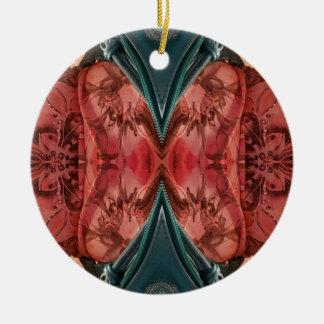 Ornamento De Cerâmica Teste padrão artístico do rosa empoeirado legal