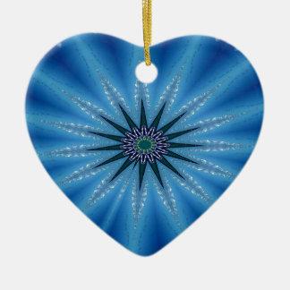 Ornamento De Cerâmica Teste padrão artístico Funky legal de Starburst