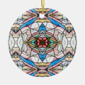 Ornamento De Cerâmica Teste padrão artístico raro bonito do vitral