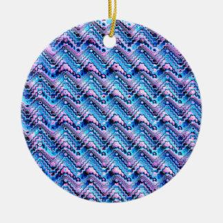 Ornamento De Cerâmica Teste padrão azul e roxo abstrato