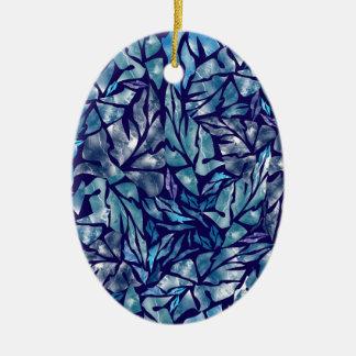 Ornamento De Cerâmica teste padrão B das folhas