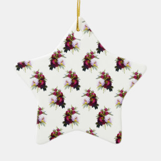 Ornamento De Cerâmica Teste padrão bonito das peônias