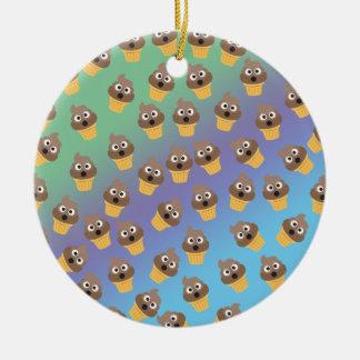 Ornamento De Cerâmica Teste padrão bonito do cone do sorvete de Emoji do