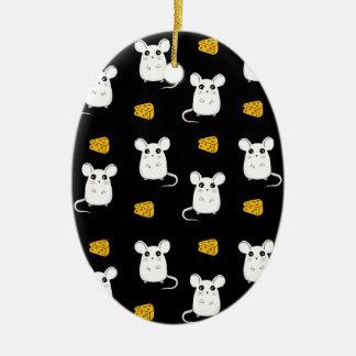 Ornamento De Cerâmica Teste padrão bonito do rato