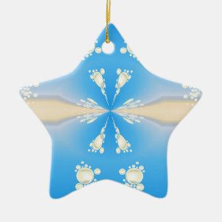 Ornamento De Cerâmica Teste padrão borbulhante azul