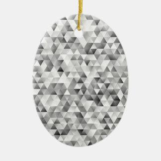 Ornamento De Cerâmica Teste padrão cinzento do triângulo