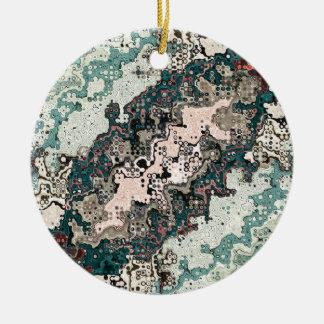Ornamento De Cerâmica Teste padrão colorido 1 das texturas