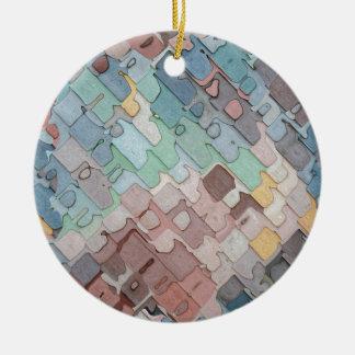 Ornamento De Cerâmica Teste padrão colorido das camadas