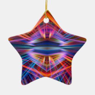 Ornamento De Cerâmica Teste padrão colorido dos feixes luminosos
