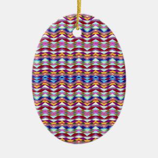 Ornamento De Cerâmica Teste padrão colorido étnico