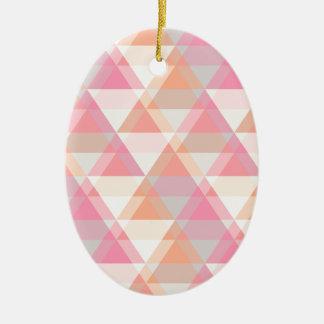Ornamento De Cerâmica Teste padrão cor-de-rosa