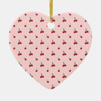 Ornamento De Cerâmica Teste padrão cor-de-rosa da cereja