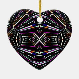 Ornamento De Cerâmica Teste padrão corajoso afiado étnico escuro