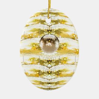 Ornamento De Cerâmica Teste padrão da colmeia da abelha da bola do disco