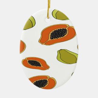 Ornamento De Cerâmica Teste padrão da fruta da papaia