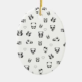 Ornamento De Cerâmica Teste padrão da panda