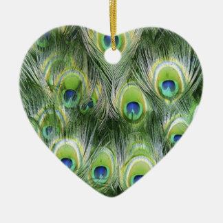 Ornamento De Cerâmica Teste padrão da pena do pavão
