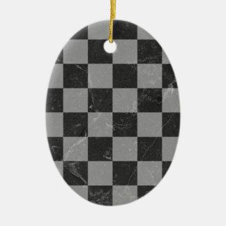 Ornamento De Cerâmica Teste padrão da xadrez