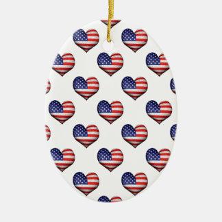 Ornamento De Cerâmica Teste padrão dado forma coração da bandeira do