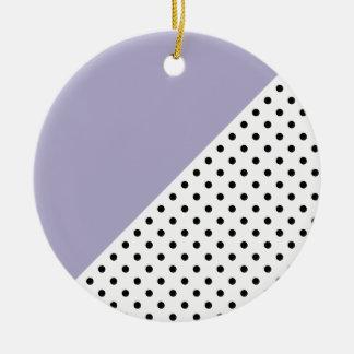 Ornamento De Cerâmica Teste padrão de bolinhas retro geométrico violeta