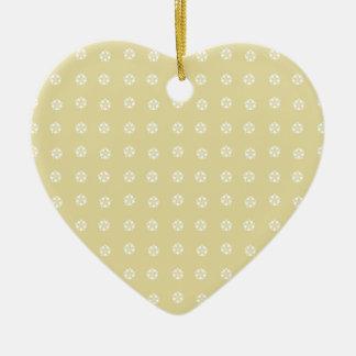 Ornamento De Cerâmica Teste padrão de flor do limão