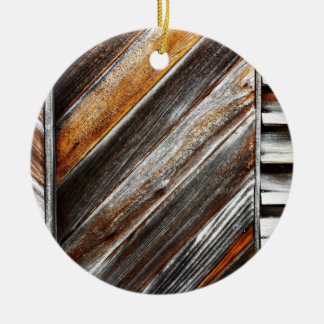 Ornamento De Cerâmica Teste padrão de madeira