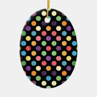 Ornamento De Cerâmica Teste padrão de pontos bonito IX