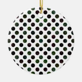 Ornamento De Cerâmica Teste padrão de pontos bonito XIII