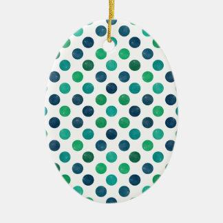Ornamento De Cerâmica Teste padrão de pontos bonito XIV