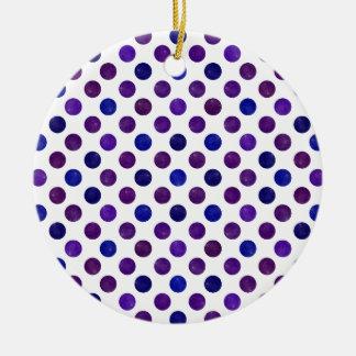 Ornamento De Cerâmica Teste padrão de pontos bonito XV