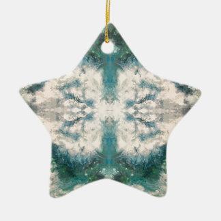 Ornamento De Cerâmica Teste padrão de Seafoam 2