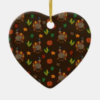 Ornamento De Cerâmica Teste padrão de Turquia da acção de graças