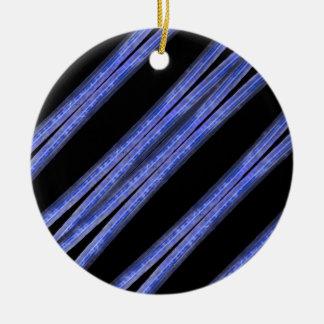 Ornamento De Cerâmica Teste padrão diagonal escuro das listras