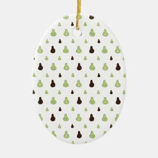 Ornamento De Cerâmica Teste padrão do abacate