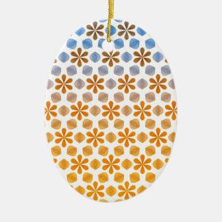 Ornamento De Cerâmica Teste padrão do campo de flor do verão