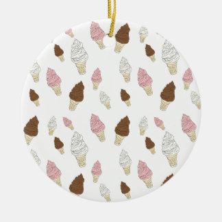 Ornamento De Cerâmica Teste padrão do cone do sorvete