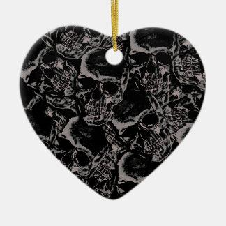 Ornamento De Cerâmica Teste padrão do crânio