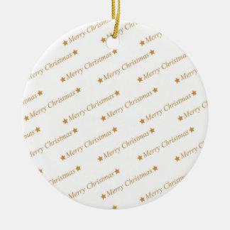 Ornamento De Cerâmica Teste padrão do Feliz Natal da tipografia do Natal