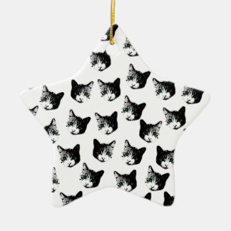 Ornamento De Cerâmica Teste padrão do gato