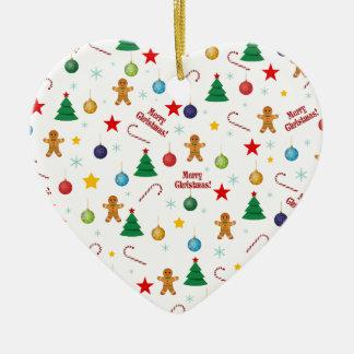 Ornamento De Cerâmica Teste padrão do Natal