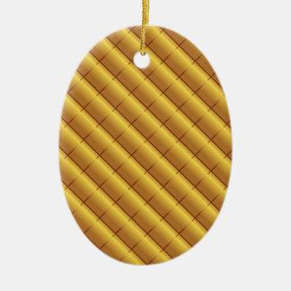 Ornamento De Cerâmica Teste padrão do ouro