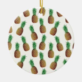 Ornamento De Cerâmica Teste padrão do papel de parede do abacaxi