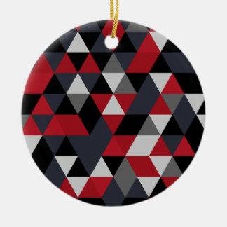 Ornamento De Cerâmica Teste padrão do polígono de Minimalistic (prisma)